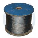 Stahldrahtseil, PVC klar, 6/8 mm, 50 m, auf Spule
