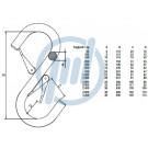 hochf. S-Haken, 150 kg, Schnäpper/Schnäpper