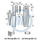 Seilschloß DIN EN 13411-7,znk., f.Seil-Ø: 9-11mm