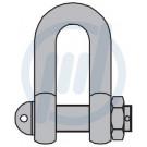Schäkel ähnlich DIN 82101, verz., Form C, 10 t