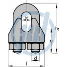 NIRO-Drahtseilklemme NG 2 mm